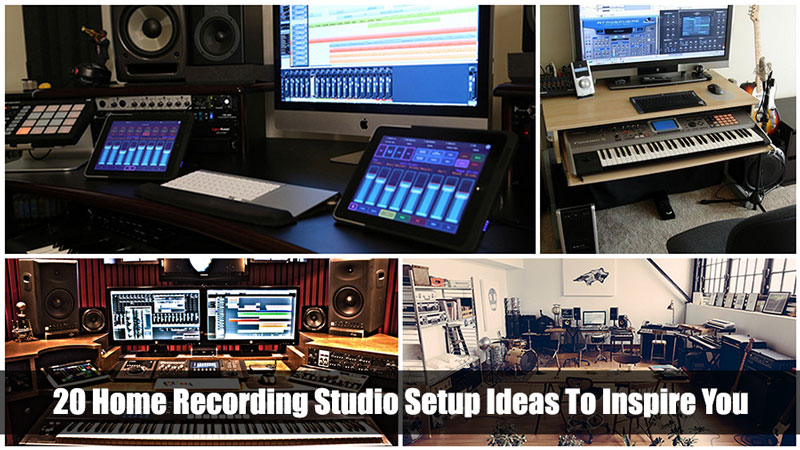 20 Home Recording Studio Setups To Inspire You