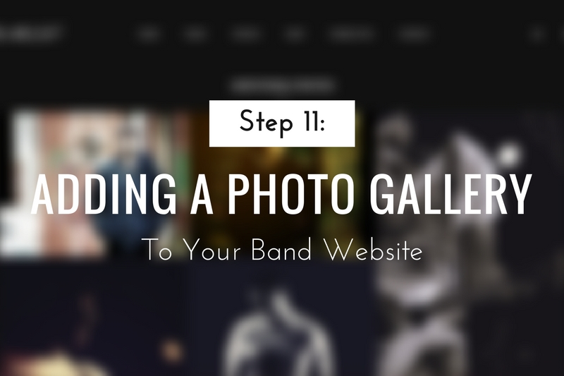 Adding a Photo Gallery to Your Band Website