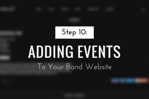 Adding Events to Your Band Website