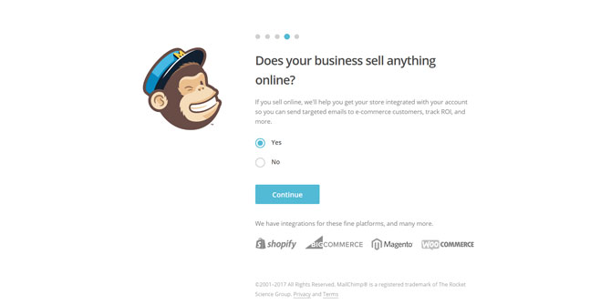 Mailchimp Sell Online Options