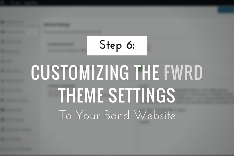 Customizing the FWRD Theme Settings
