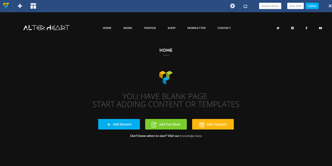 One Page Homepage Visual Composer