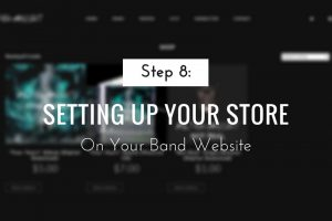Setting Up Your Store On Your Band Website