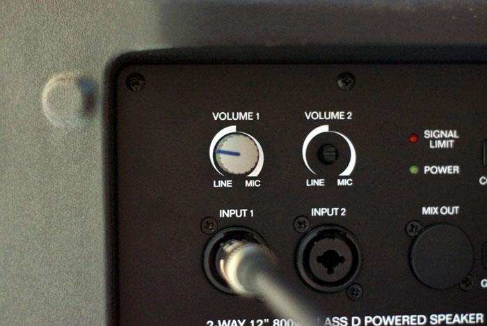 Audio Interface into PA Speaker