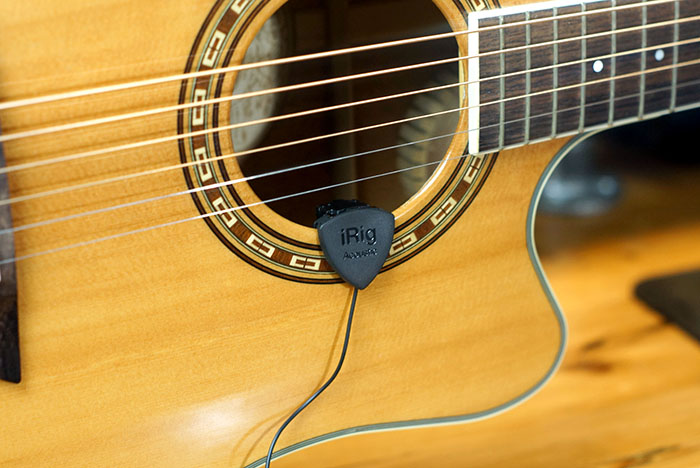 iRig Acoustic Stage Mic on Guitar