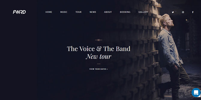 FWRD Musician WordPress Theme