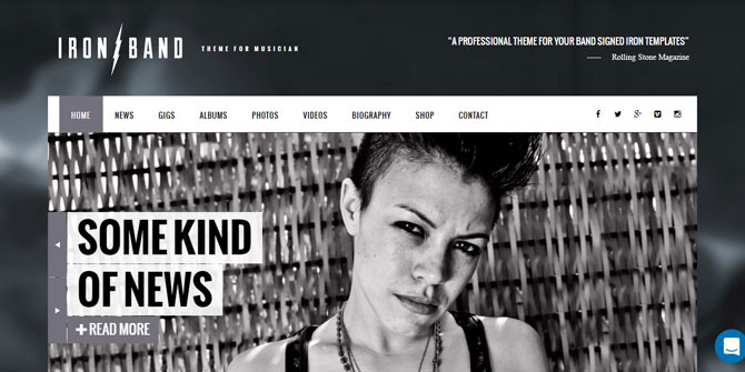 Iron Band WordPress Theme