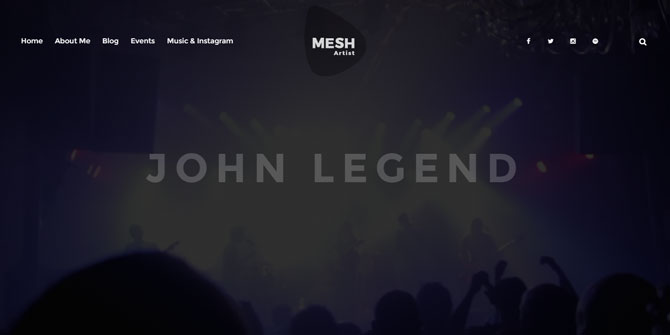 Mesh Musician WordPress Theme
