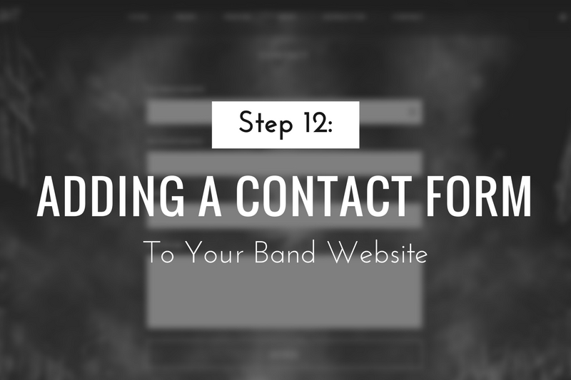 Adding a Contact Form to Your Band Website