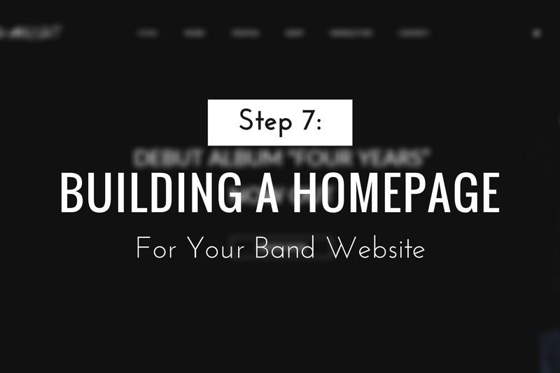 Building a Homepage for Your Band Website