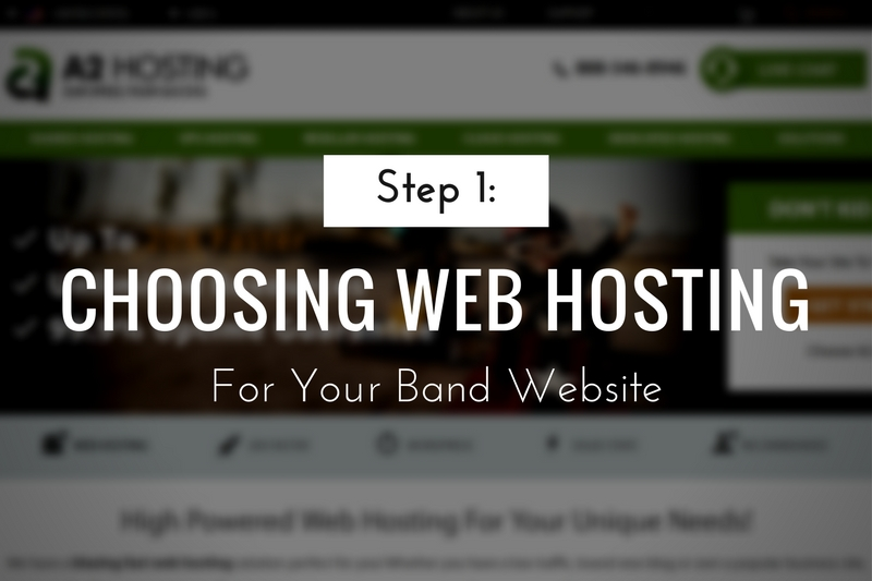 Choosing Web Hosting for your Band Website