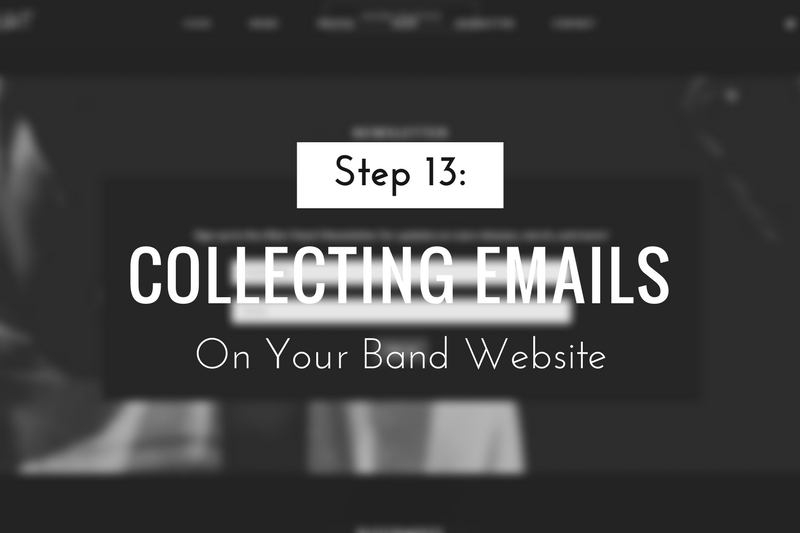 Collecting Emails on Your Band Website