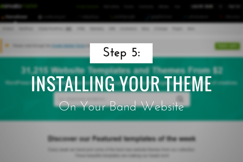 Installing Your Theme on Your Band Website