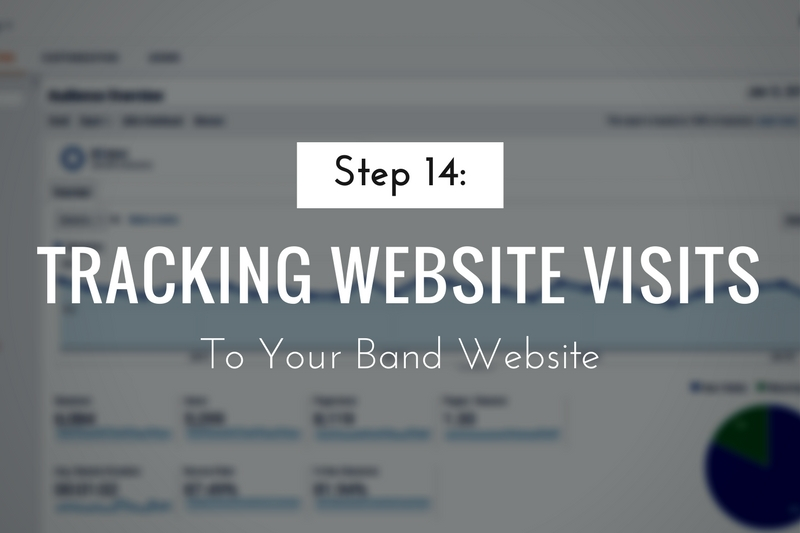 Tracking Visits on Your Band Website