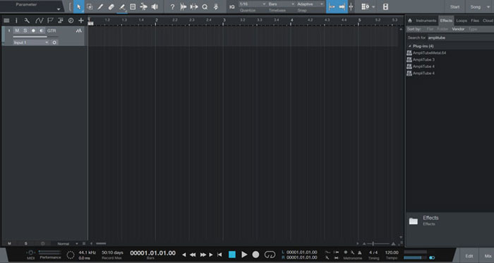 Add Amplitube to Track