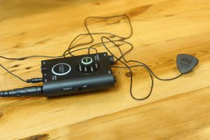 iRig Acoustic Stage Hooked Up