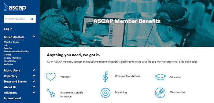 ASCAP Member Benefits