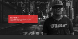 Band Website Design Sample 2