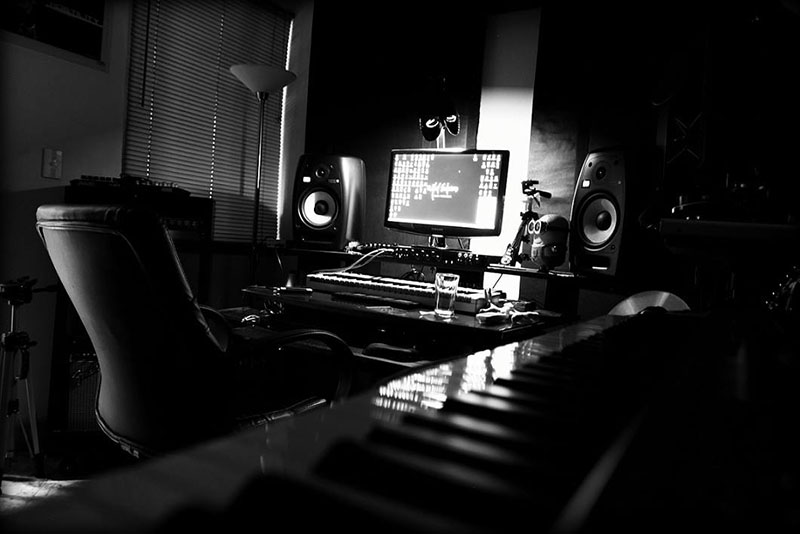 Black and White Home Studio