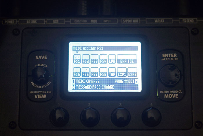 Line 6 HD500x MIDI Assign