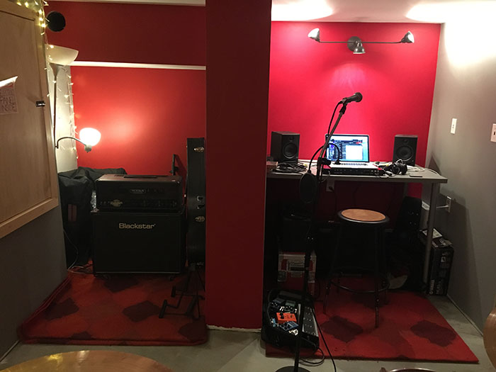 Finishing Basement Studio