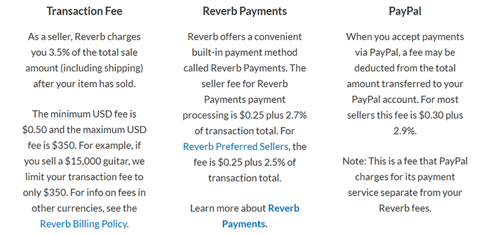 Reverb Payment