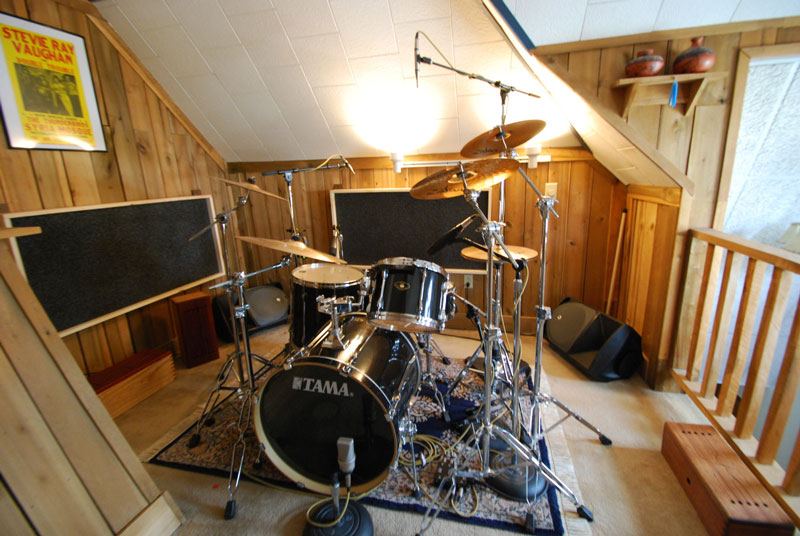 Wood Panel Drum Room